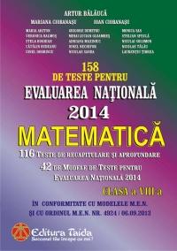 Evaluarea Nationala 2014. Matematica, Clasa a VIII-a