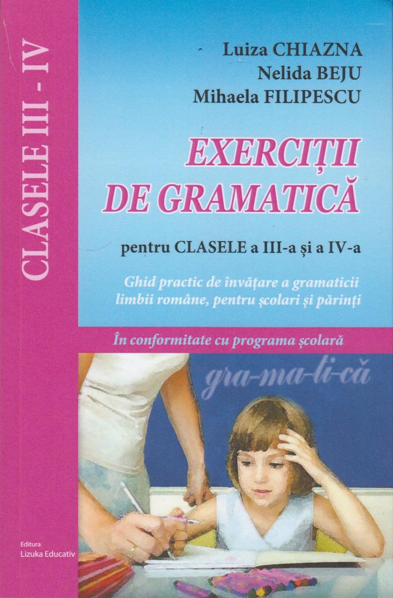 Exercitii gramatica pentru clasele III
