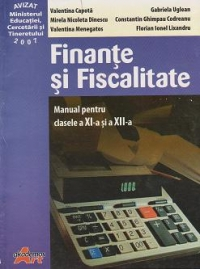 Finante fiscalitate manual pentru clasele