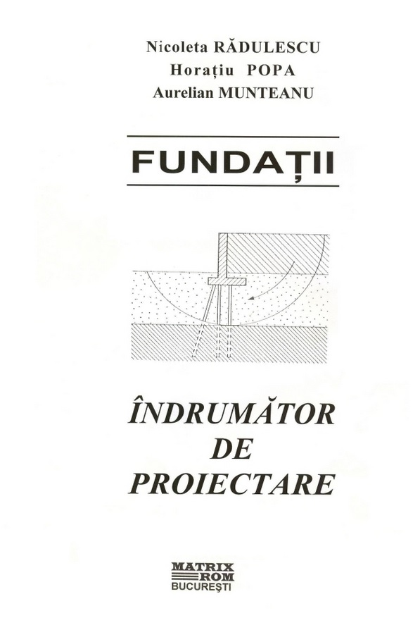 Fundatii Indrumator proiectare
