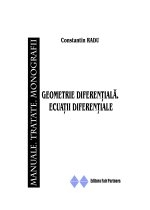 Geometrie diferentiala. Ecuatii diferentiale