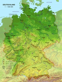 Germania - Harta 3d