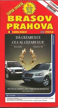 Harta Brasov si Romania turistica si rutiera(2 harti in una singura)