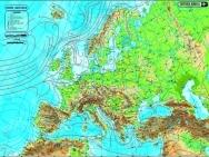 Harta Europa - duo 120x160 cm