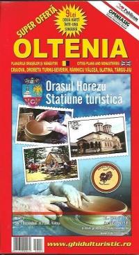 Harta Oltenia si Romania turistica si rutiera