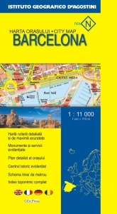 Harta orasului Barcelona (Scara 1:11.000)