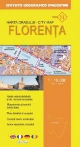 Harta orasului Florenta (Scara 1:10.000)