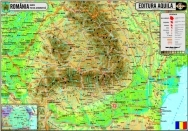 Harta Romania - duo 120x160 cm