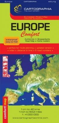 Harta rutiera Europa Comfort