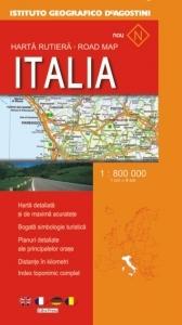 Harta rutiera Italia (Scara 1:800.000)