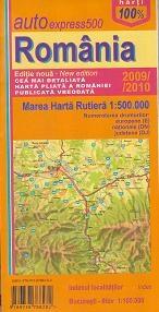 Harta rutiera Romania scara 1:500 000