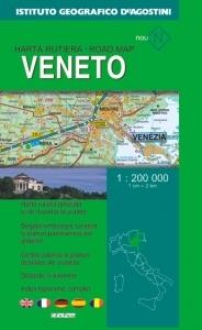 Harta rutiera Venezia (Scara 1:200.000)