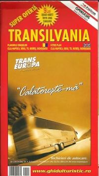 Harta Transilvania si Romania turistica si rutiera(2 harti in una singura)