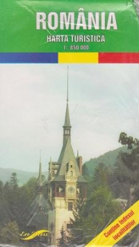 Harta turistica Romania (Scara 1:850.000)