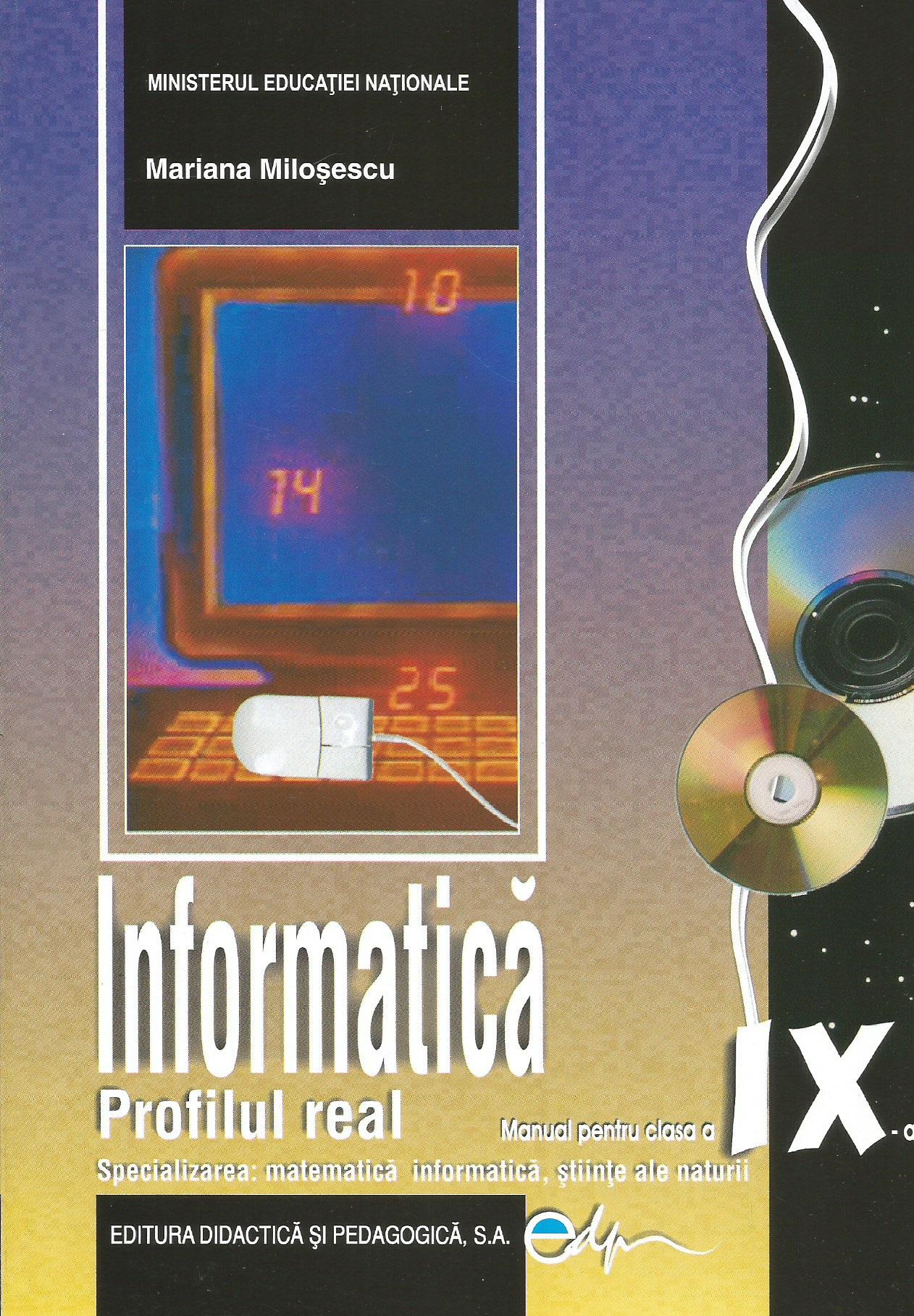 Informatica profil real C++ (specializarea: