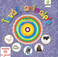 Invat animalele (contine CD cu jocuri)