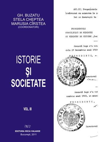Istorie societate Volumul III