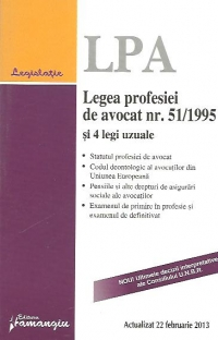 Legea profesiei avocat 51/1995 legi