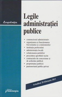 Legile administratiei publice actualizat februarie