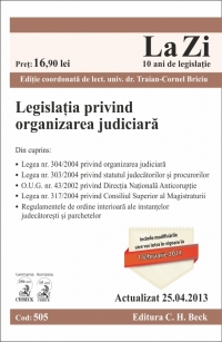 Legislatia privind organizarea judiciara (actualizat