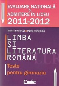 Limba literatura romana Teste pentru