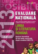 LIMBA LITERATURA ROMANA EVALUAREA NATIONALA