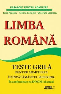 Limba romana Teste grila pentru
