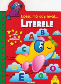 Lipesc, ma joc si invat... Literele - Carte cu abtibilduri