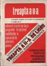 Literatura romana Matematica Treapta liceu