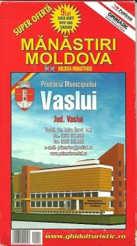 Harta-Manastiri Moldova si Romania turistica(2 harti intr-una singura)
