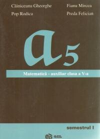 Matematica - Auxiliar pentru clasa a V-a (semestrul I)