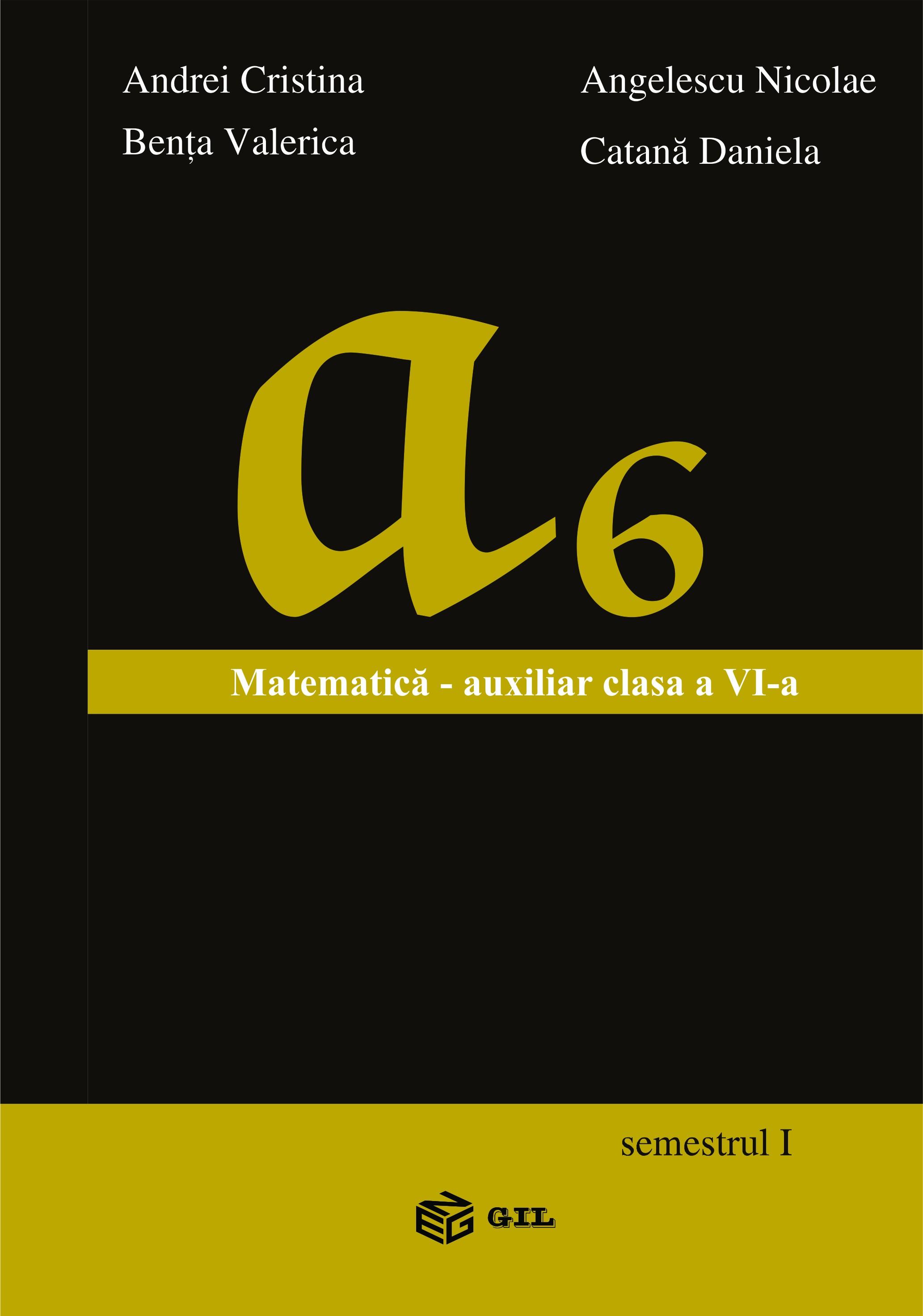 Matematica - Auxiliar pentru clasa a VI-a (semestrul I)