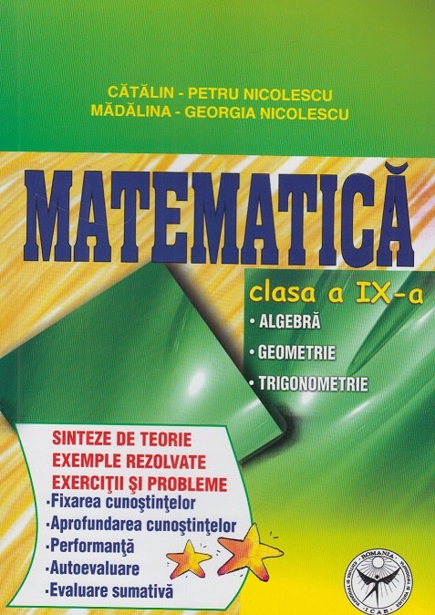 Matematica clasa Algebra Geometrie Trigonometrie