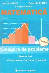Matematica. Culegere de probleme (clasa a X-a)(trunchi comun+curriculum diferentiat)