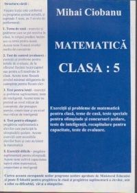 Matematica pentru clasa Exercitii probleme