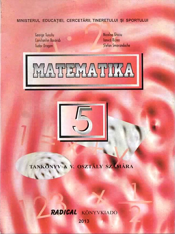 limba maghiara Matematika Tankonyv Osztaly