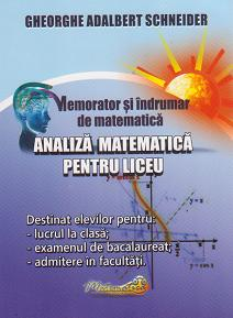 Memorator indrumar matematica Analiza matematica
