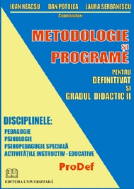 Metodologie programe pentru definitivat gradul