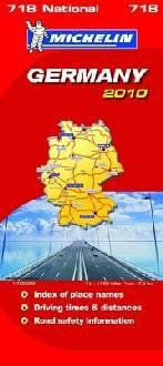 Michelin National Maps Germany 2010