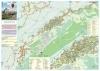 Municipiul Mioveni-harta cu sipci de lemn(100x70cm)