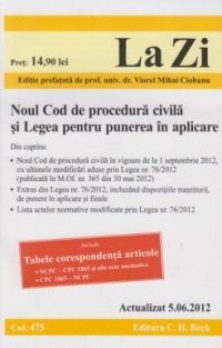 Noul Cod procedura civila Legea