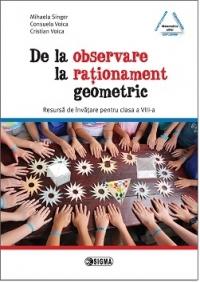 De la observare la rationament geometric. Resursa de invatare pentru clasa a VIII-a (cod 1150)
