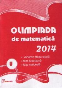 Olimpiada de Matematica 2014. Clasa a V-a