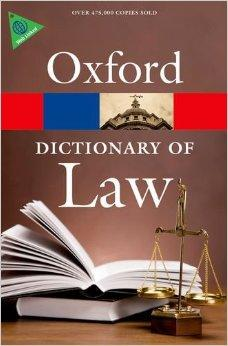Oxford Dictionary Law sixth edition
