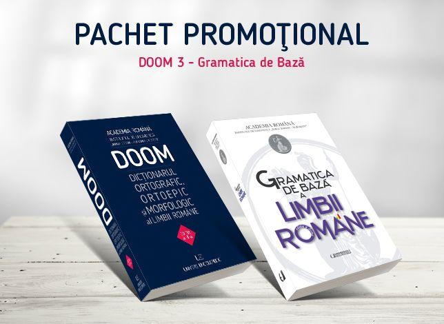 Pachet promotional DOOM-Gramatica (2 carti): 1. Dictionarul ortografic, ortoepic si morfologic al limbii romane; 2. Gramatica de baza a limbii romane