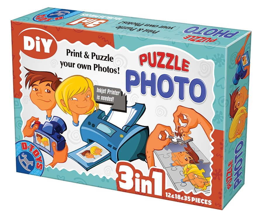 Photo Puzzle 3 in 1 - 12 & 18 & 35 piese