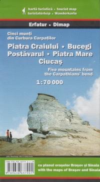 Piatra Craiului, Bucegi, Postavarul, Piatra Mare, Ciucas - Cinci munti din Curbura Carpatilor
