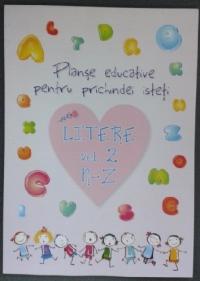Planse educative pentru prichindei isteti - Litere vol. 2 N-Z (20 file)