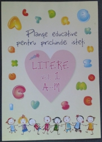 Planse educative pentru prichindei isteti - Litere vol. 1 A-M (20 file)