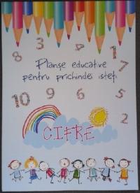 Planse educative pentru prichindei isteti - Cifre (20 file)